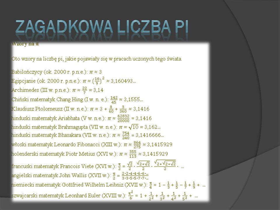 Zagadkowa liczba Pi