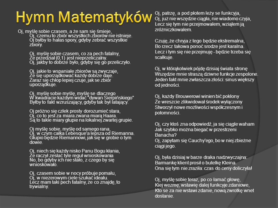 Hymn Matematyków