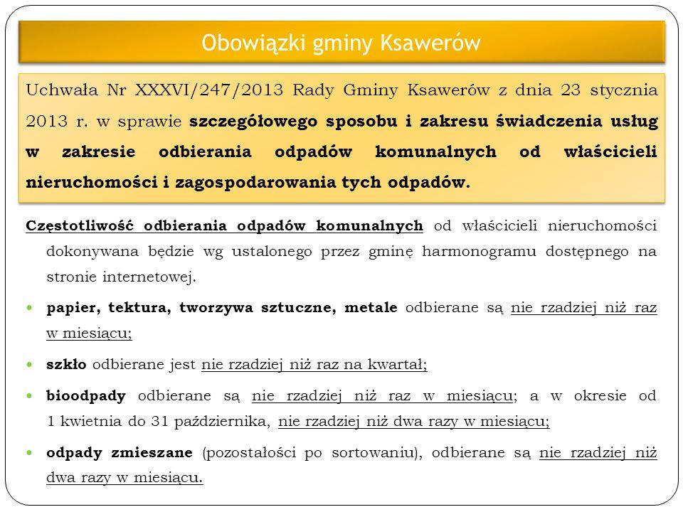 Obowiązki gminy Ksawerów
