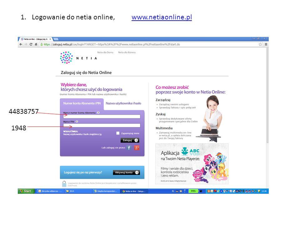 Logowanie do netia online, www.netiaonline.pl