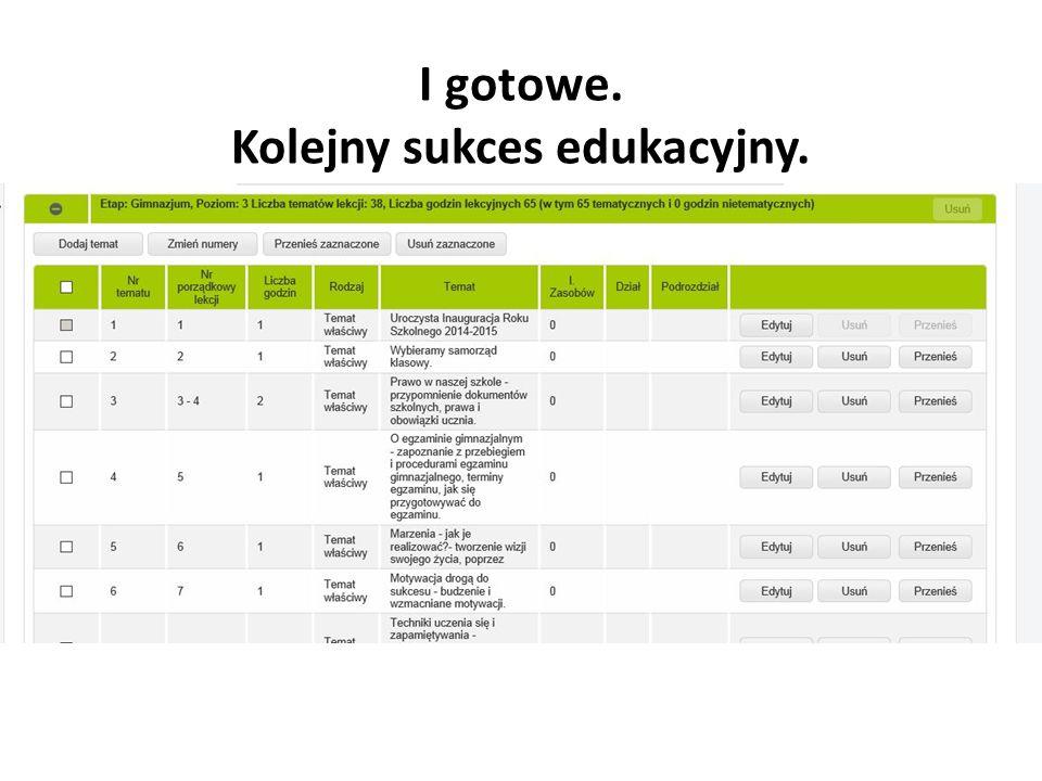 Kolejny sukces edukacyjny.