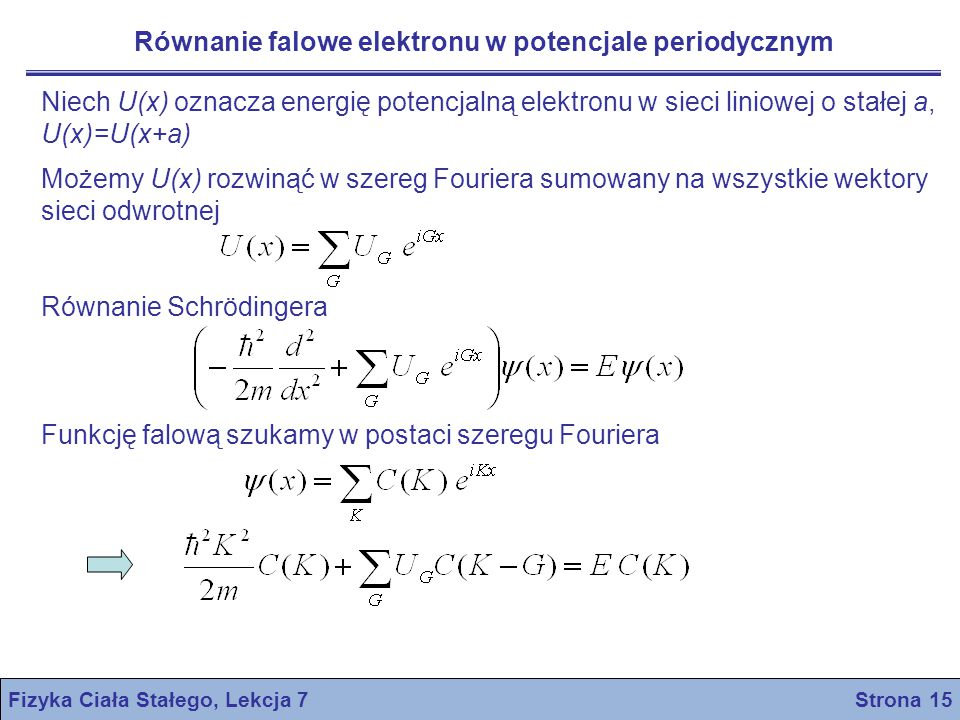 Fizyka Ciała Stałego, Lekcja 7 Strona 15