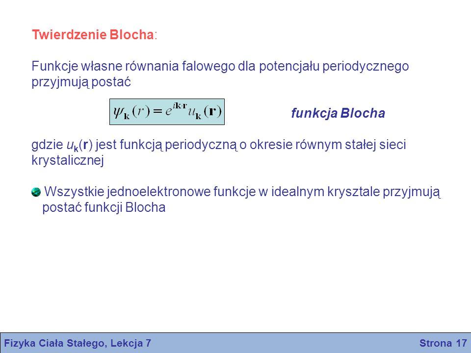 Fizyka Ciała Stałego, Lekcja 7 Strona 17