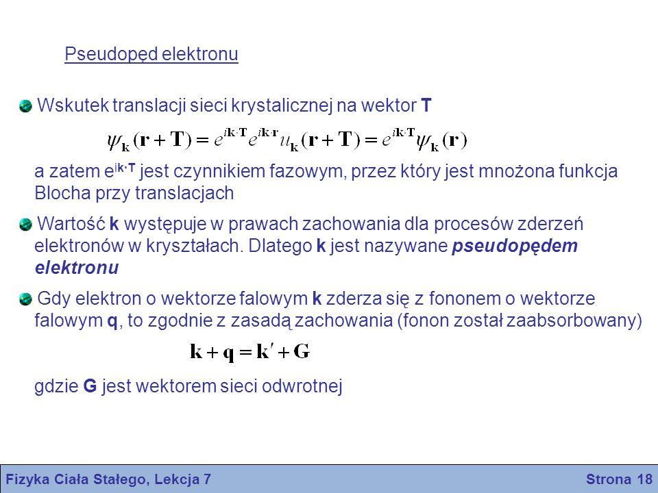 Fizyka Ciała Stałego, Lekcja 7 Strona 18