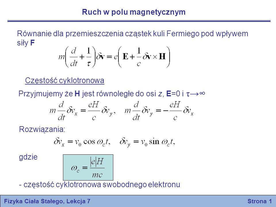 Fizyka Ciała Stałego, Lekcja 7 Strona 1