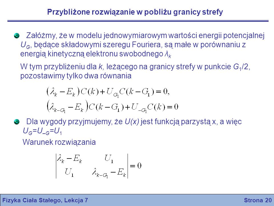 Fizyka Ciała Stałego, Lekcja 7 Strona 20