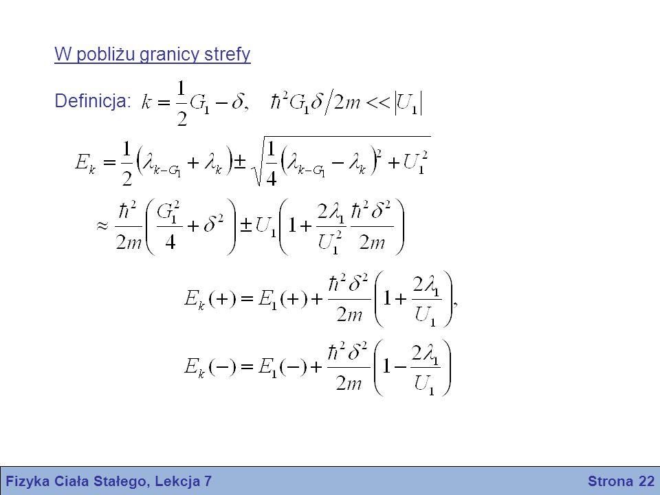 Fizyka Ciała Stałego, Lekcja 7 Strona 22