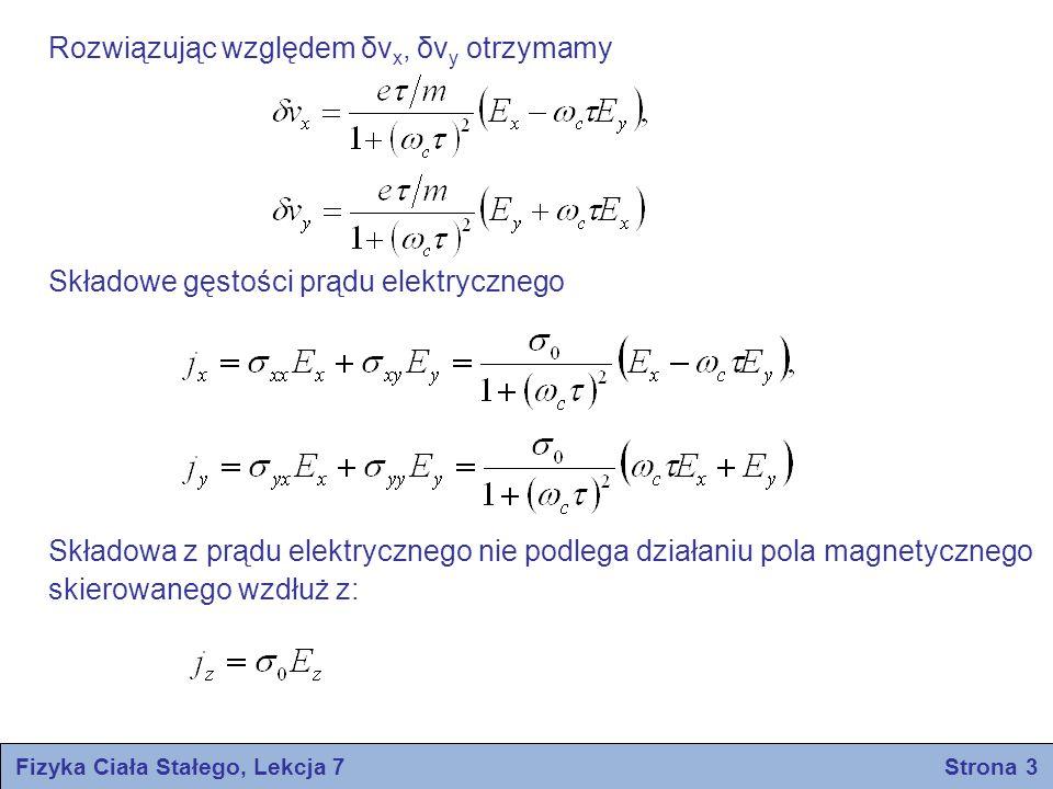 Fizyka Ciała Stałego, Lekcja 7 Strona 3