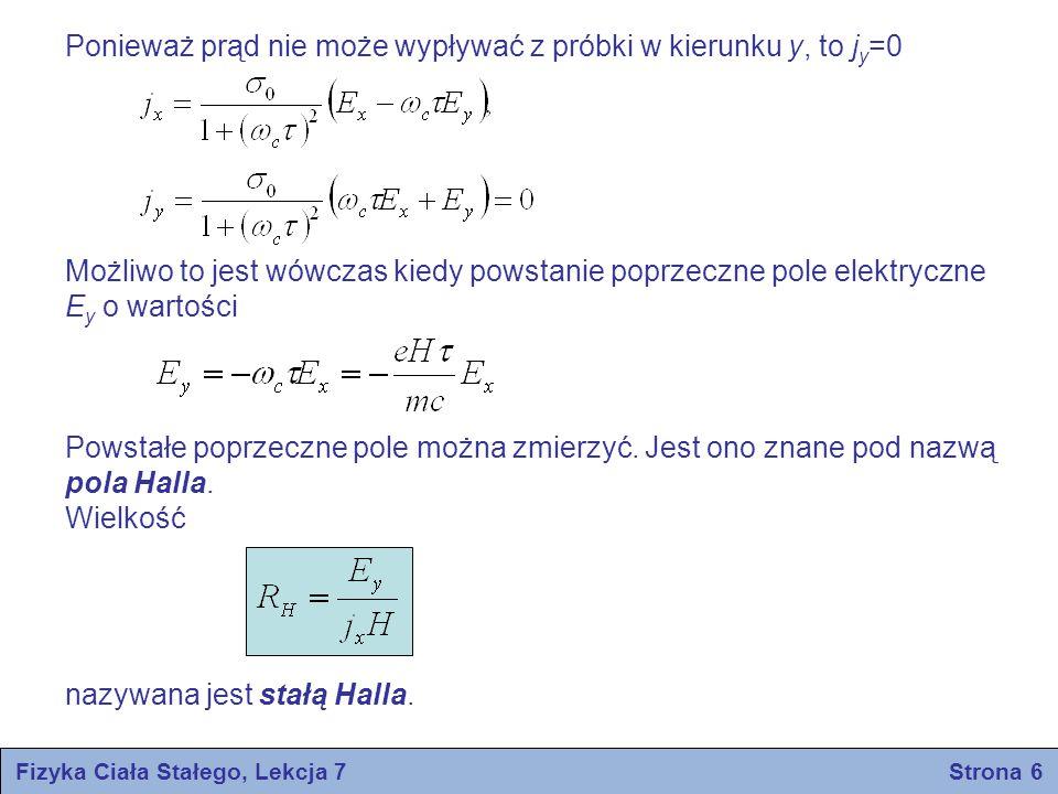 Fizyka Ciała Stałego, Lekcja 7 Strona 6