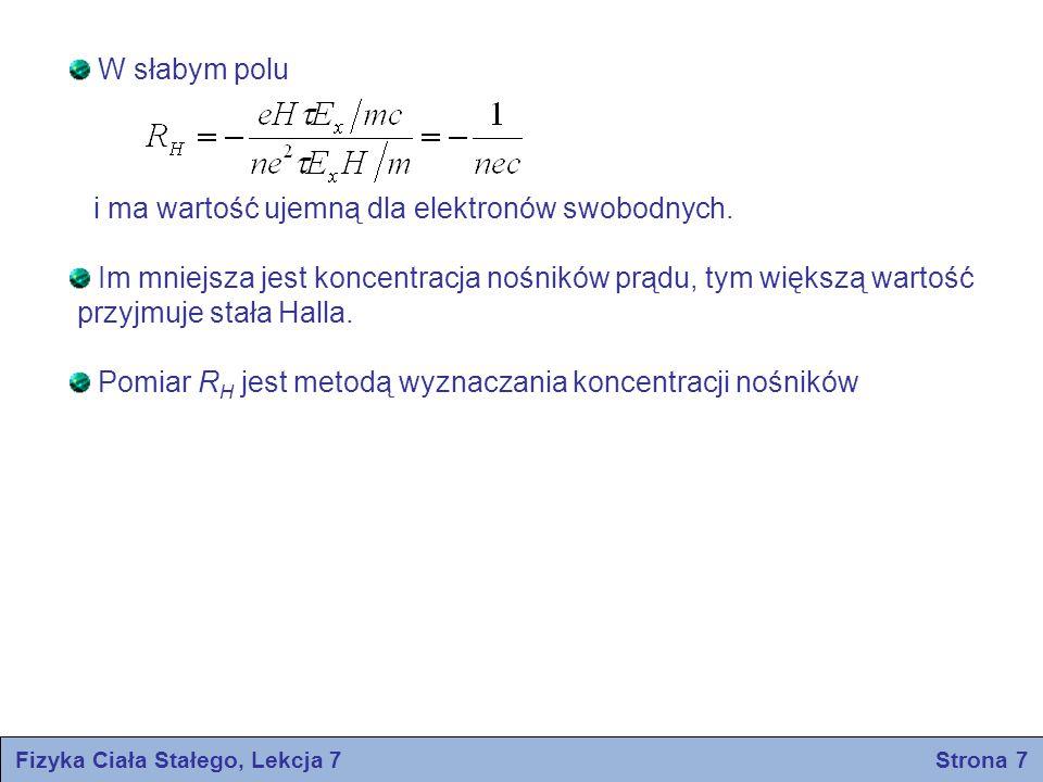 Fizyka Ciała Stałego, Lekcja 7 Strona 7