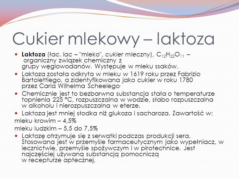 Cukier mlekowy – laktoza