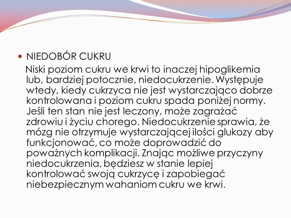 NIEDOBÓR CUKRU