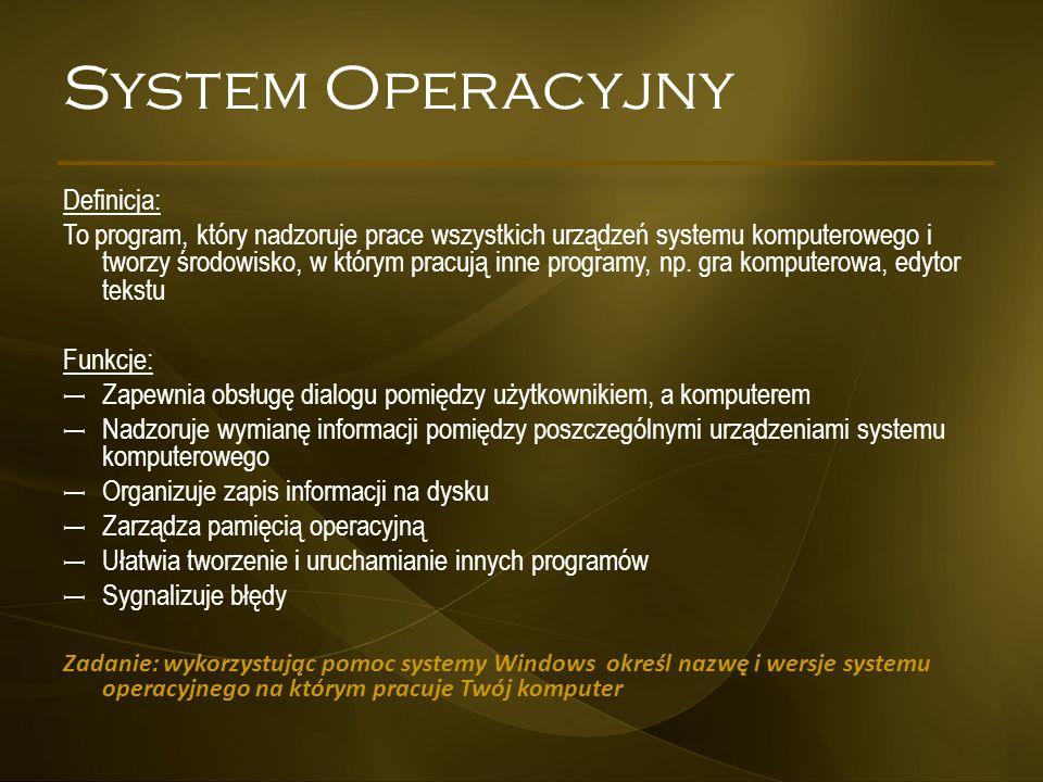 System Operacyjny Definicja: