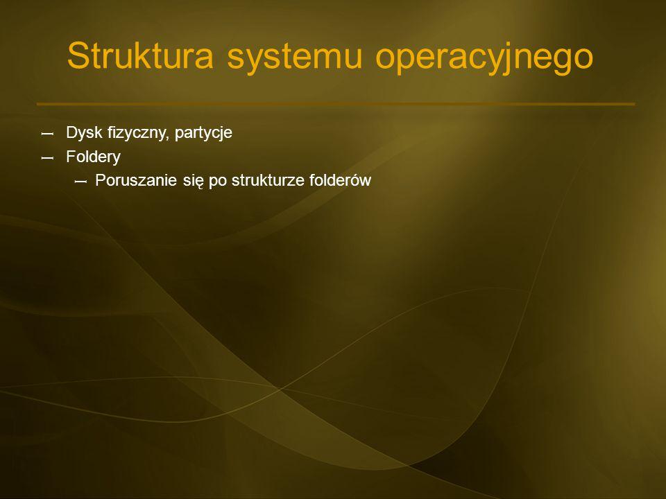 Struktura systemu operacyjnego