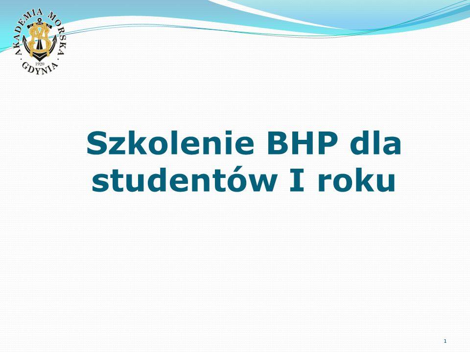 Szkolenie BHP dla studentów I roku