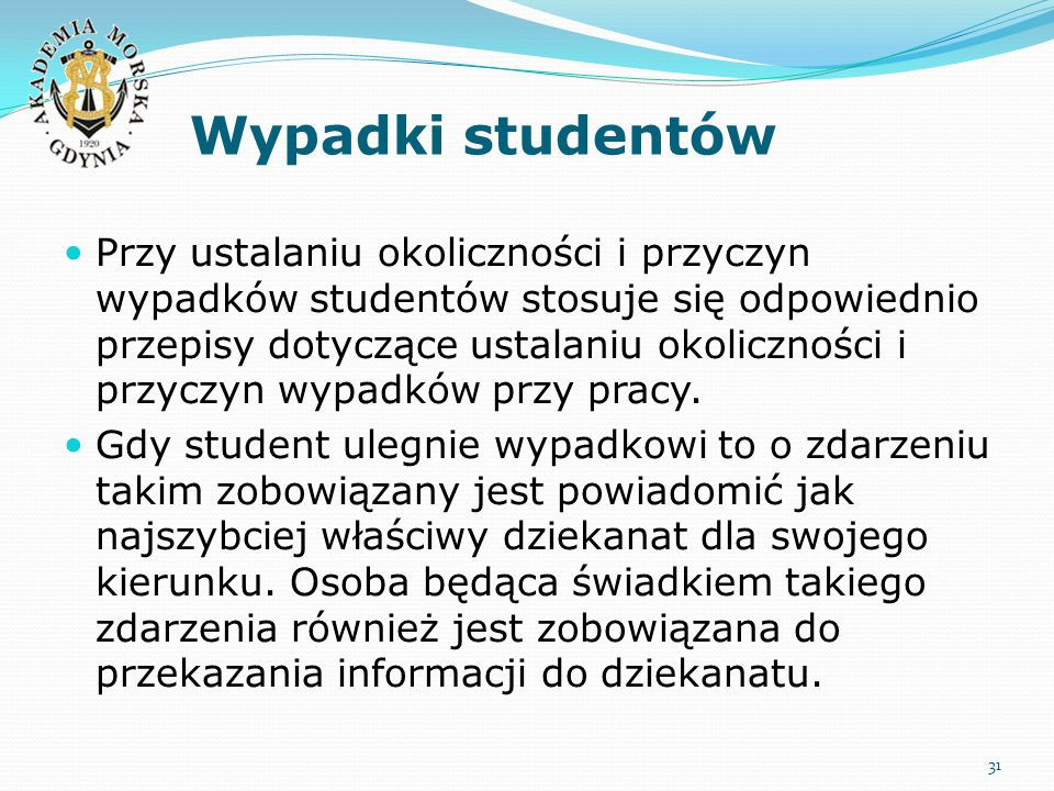 Wypadki studentów