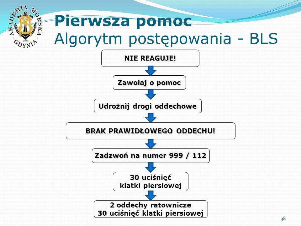 Pierwsza pomoc Algorytm postępowania - BLS