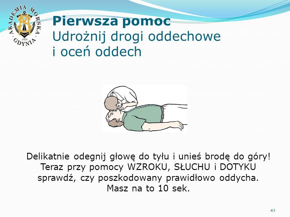 Pierwsza pomoc Udrożnij drogi oddechowe i oceń oddech