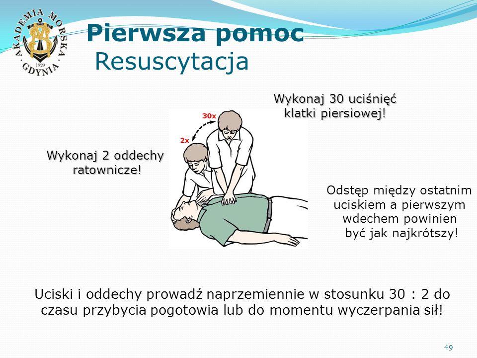 Pierwsza pomoc Resuscytacja