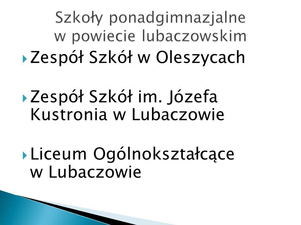 Szkoły ponadgimnazjalne w powiecie lubaczowskim