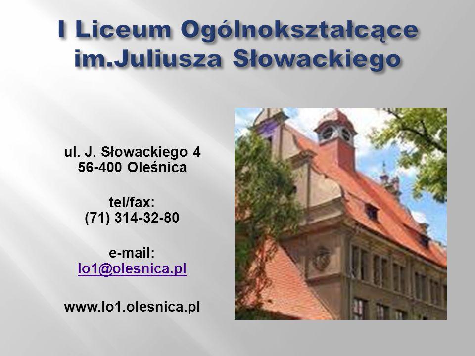 I Liceum Ogólnokształcące im.Juliusza Słowackiego