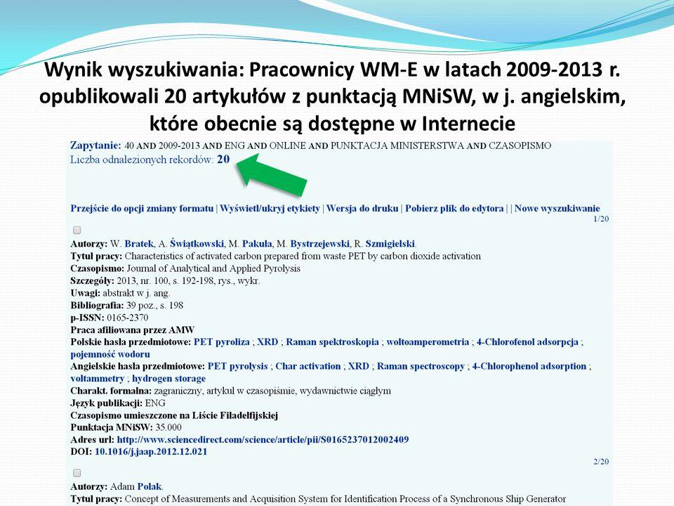 Wynik wyszukiwania: Pracownicy WM-E w latach 2009-2013 r