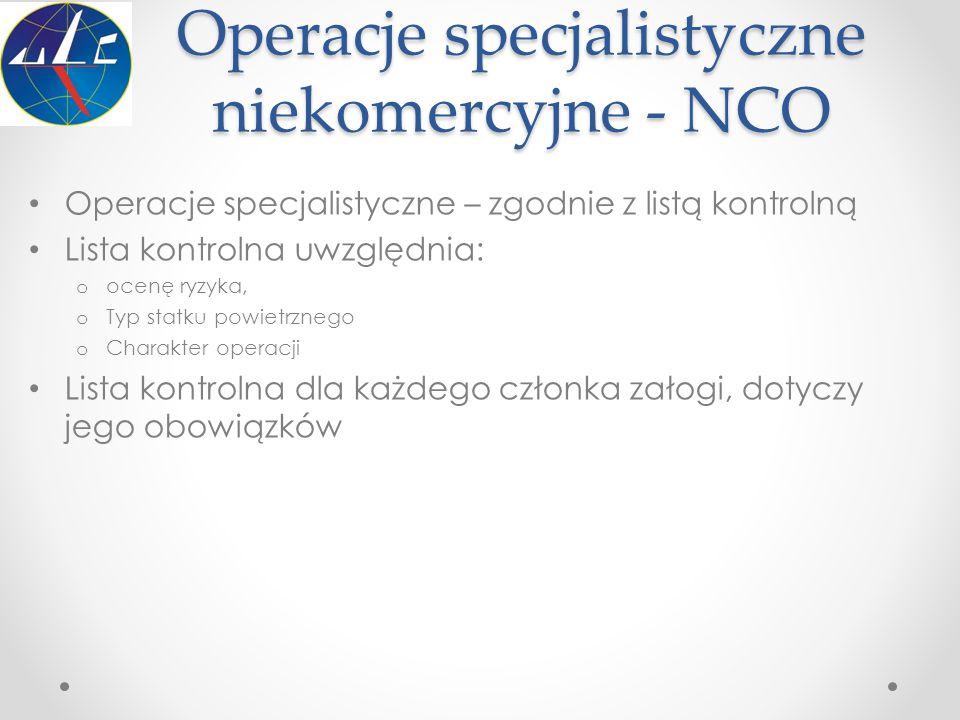 Operacje specjalistyczne niekomercyjne - NCO