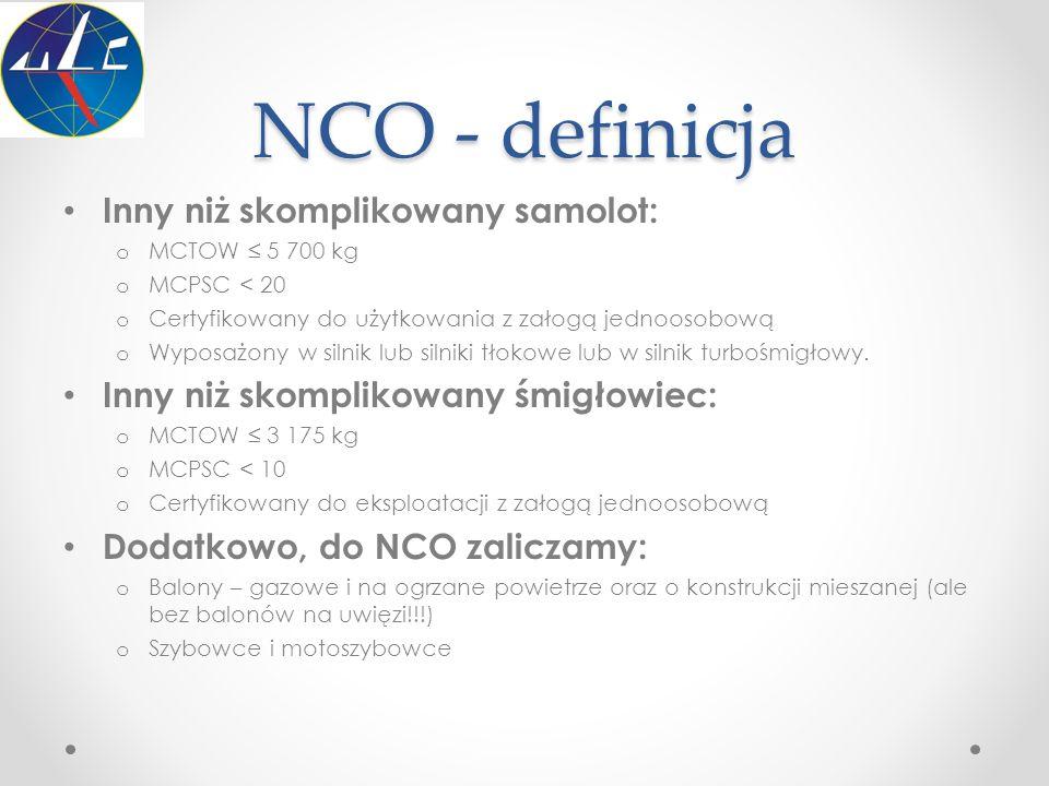 NCO - definicja Inny niż skomplikowany samolot: