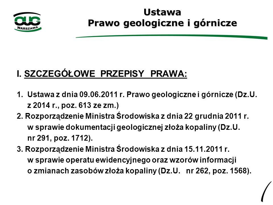 Ustawa Prawo geologiczne i górnicze