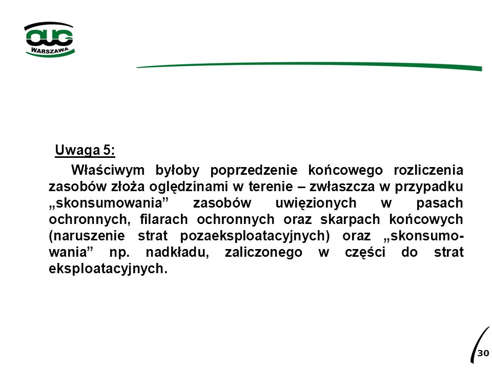 Uwaga 5: