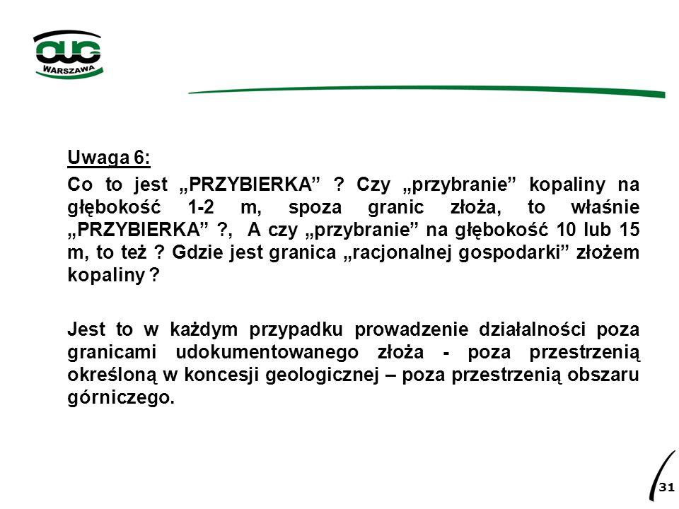 Uwaga 6: