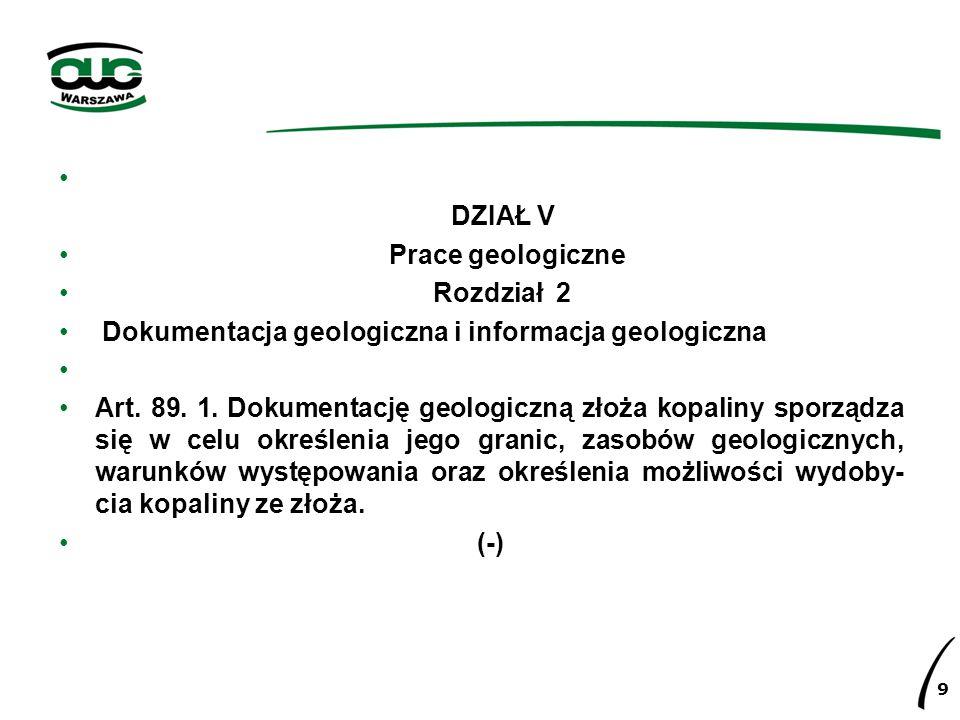 Dokumentacja geologiczna i informacja geologiczna