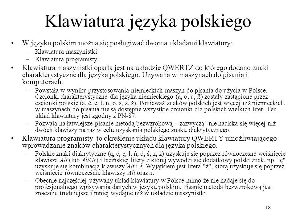 Klawiatura języka polskiego