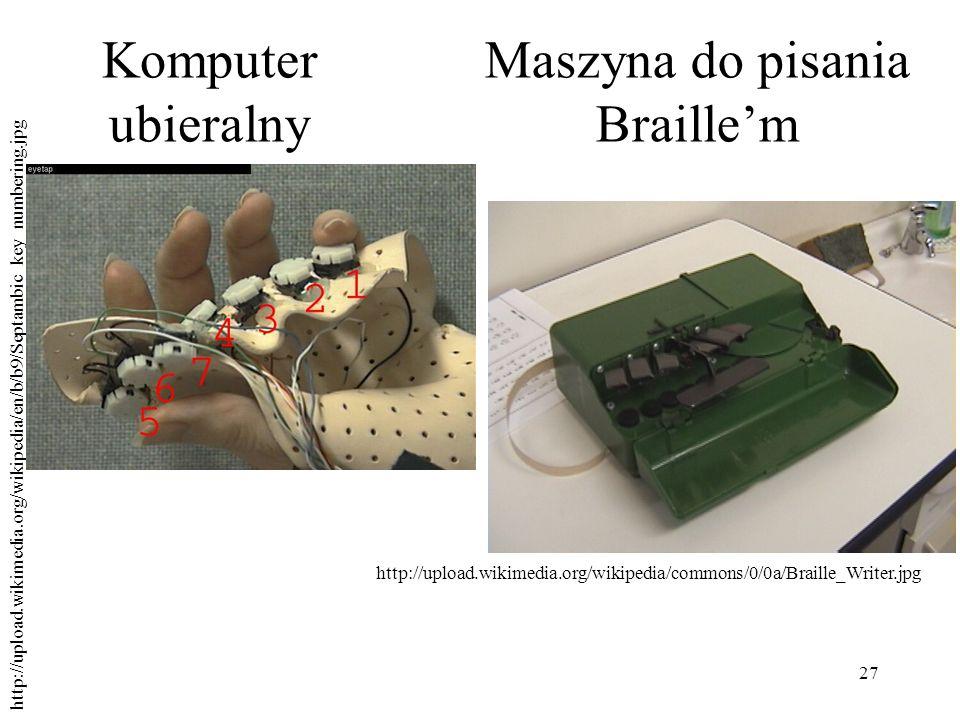 Maszyna do pisania Braille'm