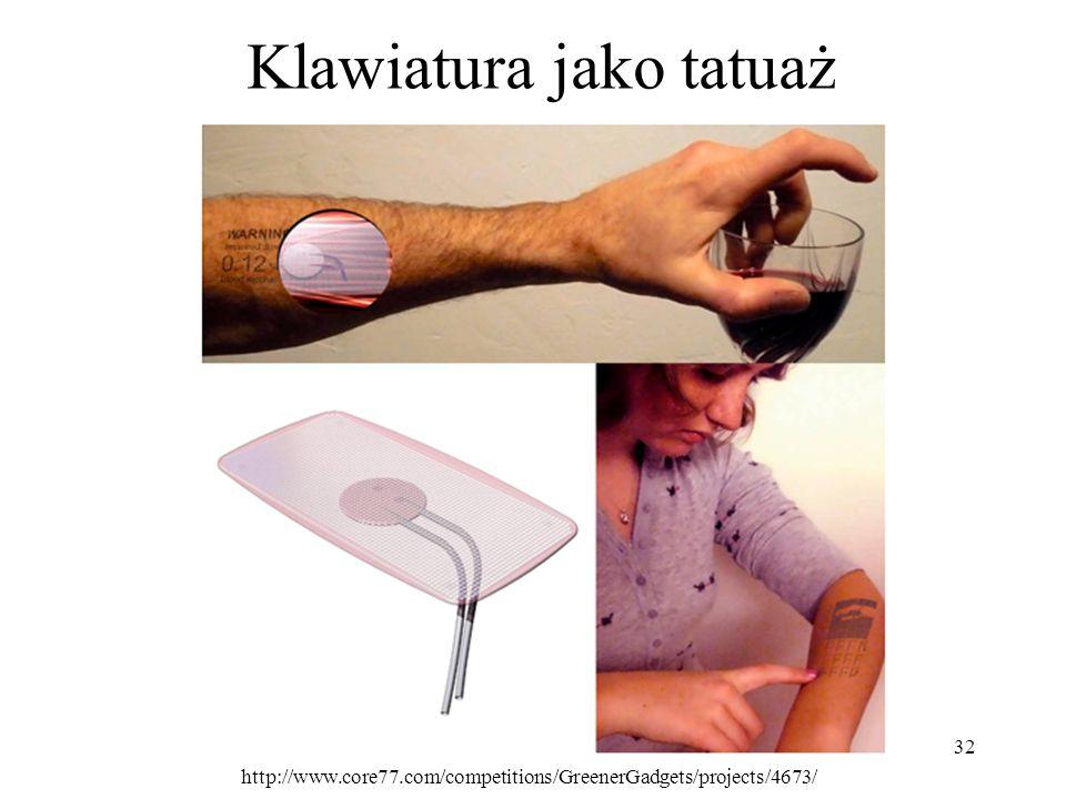 Klawiatura jako tatuaż