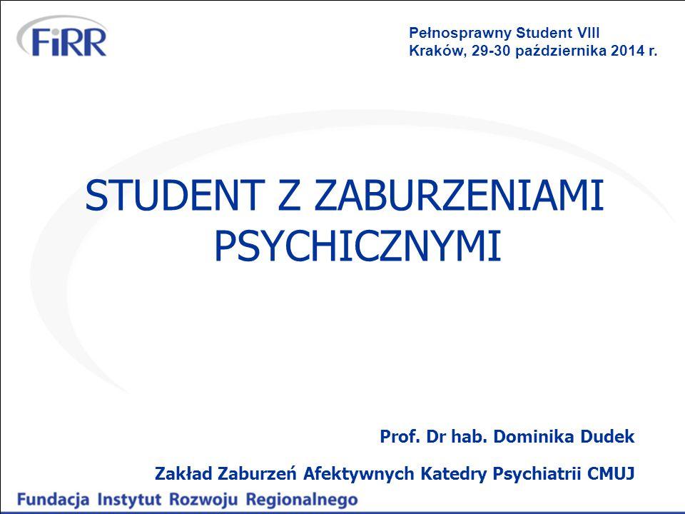 STUDENT Z ZABURZENIAMI PSYCHICZNYMI