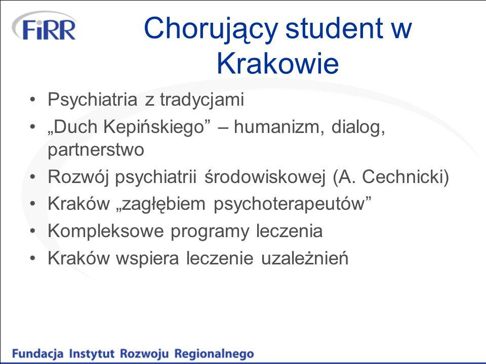 Chorujący student w Krakowie