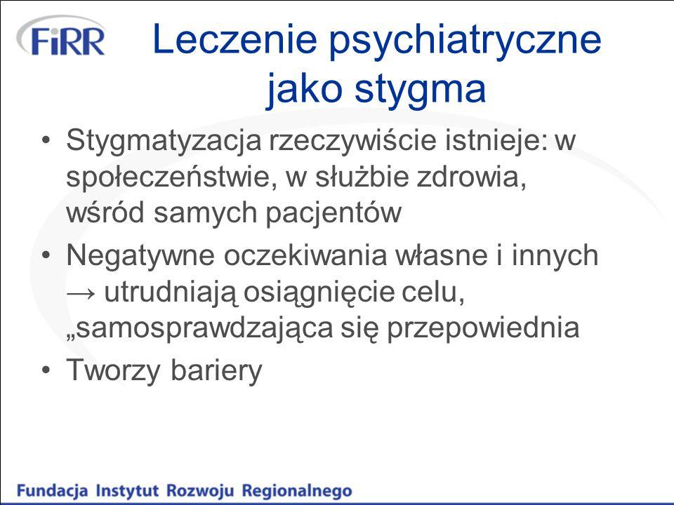 Leczenie psychiatryczne jako stygma