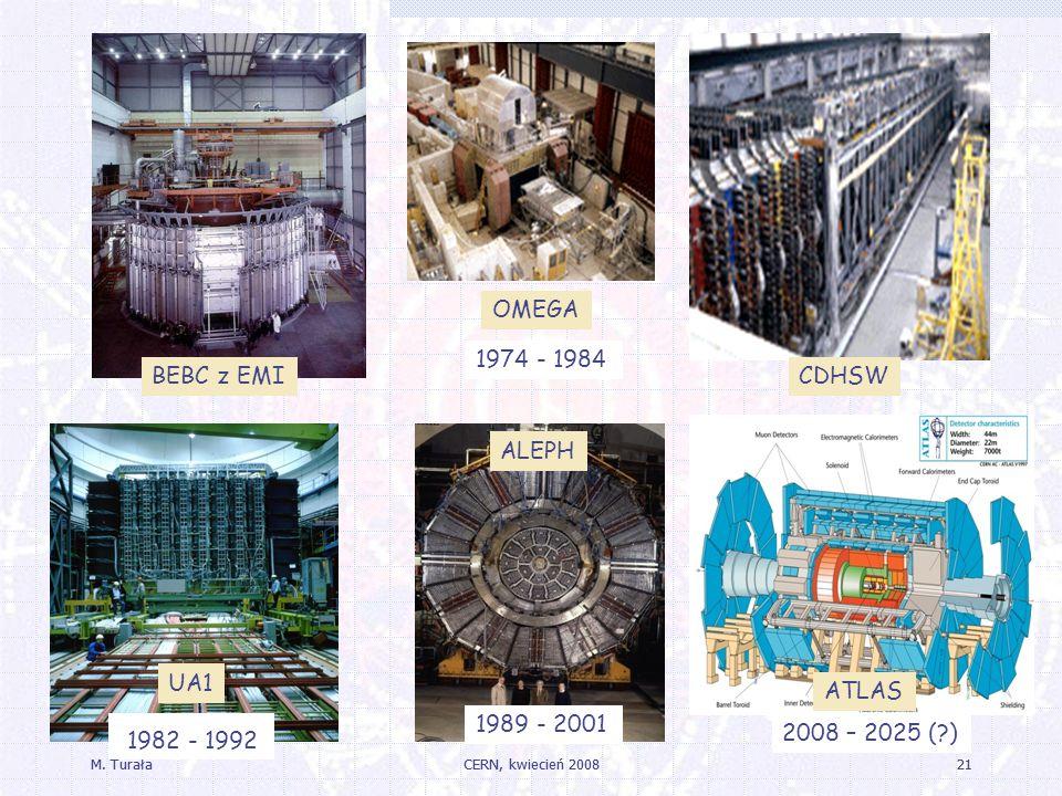 1982 - 1992 OMEGA 1974 - 1984 BEBC z EMI CDHSW ALEPH UA1 ATLAS
