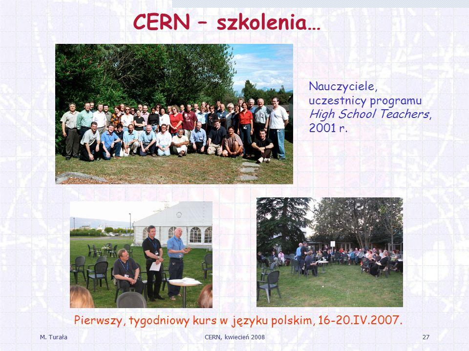 CERN – szkolenia… Nauczyciele, uczestnicy programu