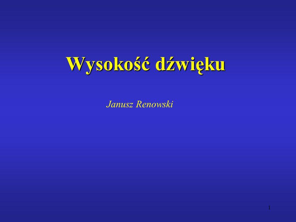Wysokość dźwięku Janusz Renowski