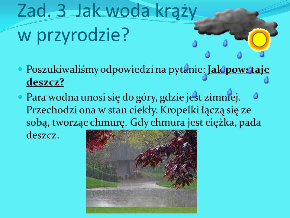 Zad. 3 Jak woda krąży w przyrodzie
