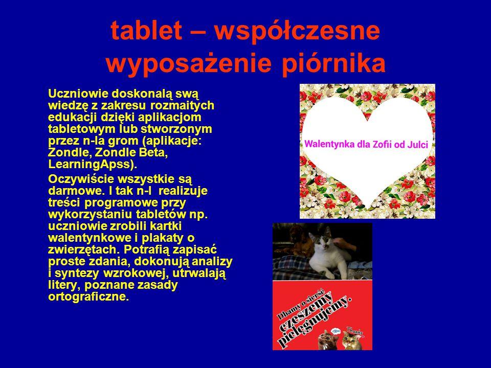 tablet – współczesne wyposażenie piórnika