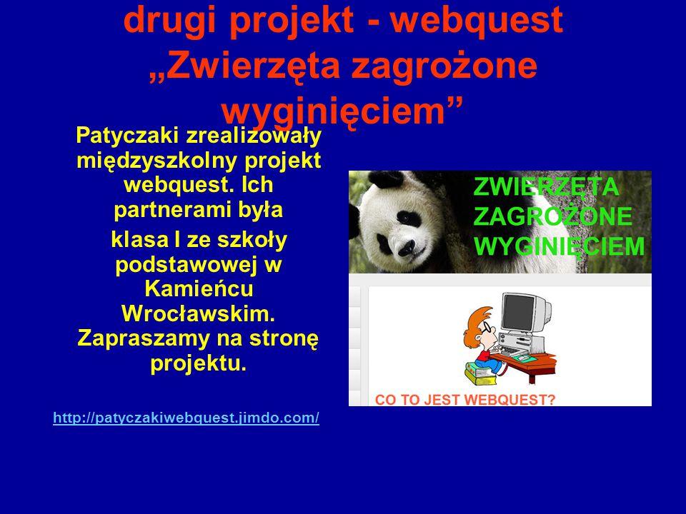 """drugi projekt - webquest """"Zwierzęta zagrożone wyginięciem"""