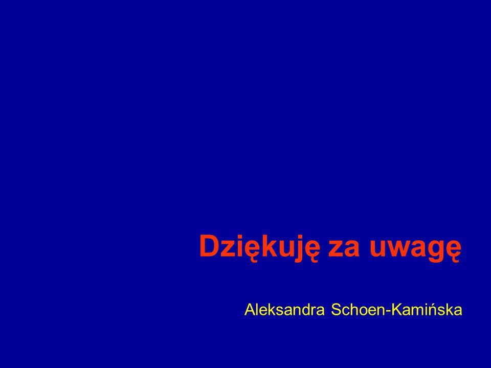 Dziękuję za uwagę Aleksandra Schoen-Kamińska