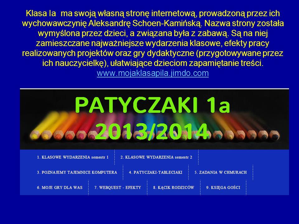 Klasa Ia ma swoją własną stronę internetową, prowadzoną przez ich wychowawczynię Aleksandrę Schoen-Kamińską.