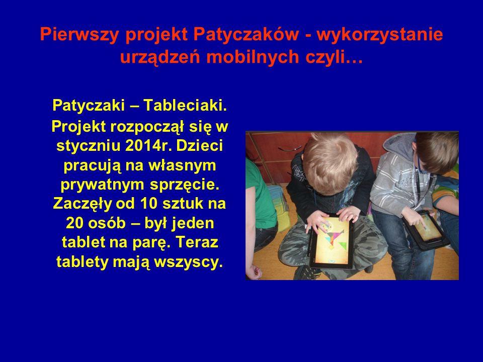 Pierwszy projekt Patyczaków - wykorzystanie urządzeń mobilnych czyli…