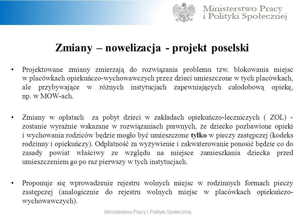 Zmiany – nowelizacja - projekt poselski