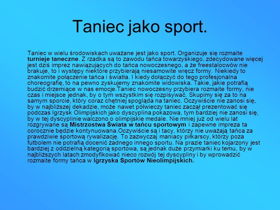 Taniec jako sport.