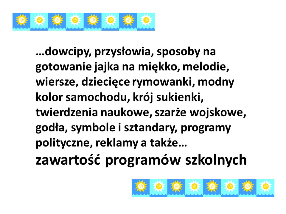 zawartość programów szkolnych